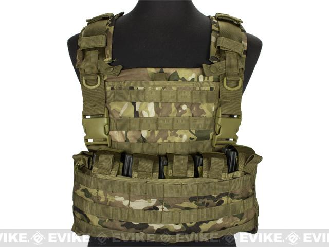 Matrix MOLLE Ready Tactical Commando Chest Rig Vest - Land Camo