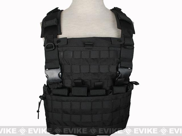 Matrix MOLLE Ready Tactical Commando Chest Rig Vest - Black