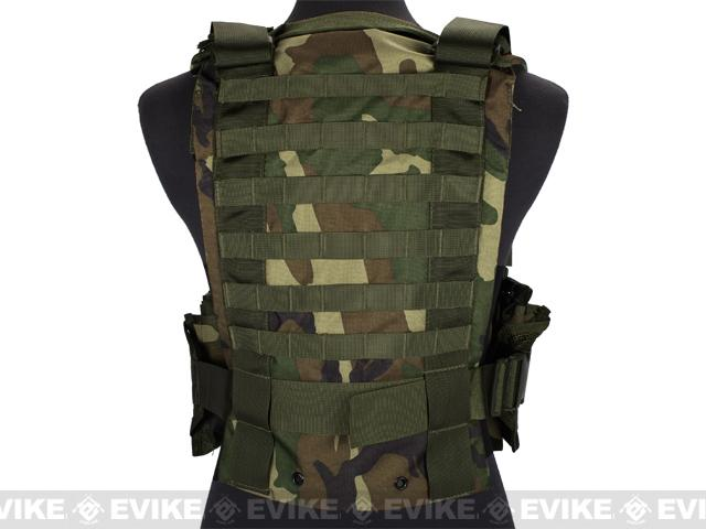 Matrix MOLLE Ready Tactical Commando Chest Rig Vest - Woodland Camo