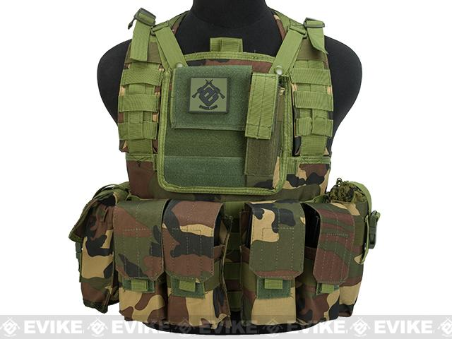 Matrix Special Operations RRV Style Chest Rig - Woodland