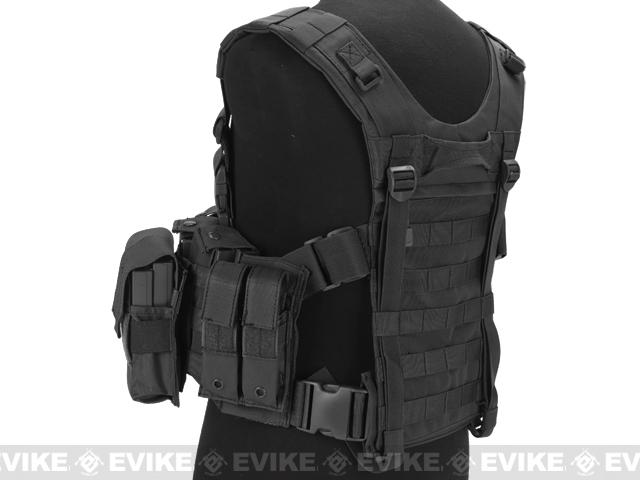 Avengers (Large ~ 2XL) MOLLE Tactical Assault Vest (Color: Black)