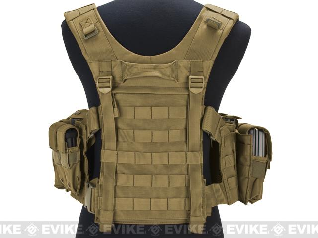 Avengers (Large ~ 2XL) MOLLE Tactical Assault Vest (Color: Tan)