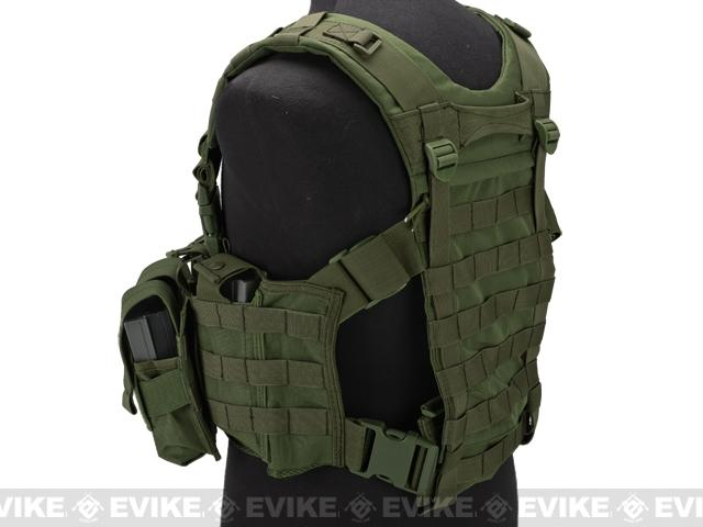 Lancer Tactical High Speed M4/M16 Chest Rig - OD Green