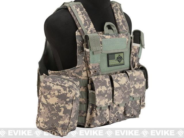 USMC Style C.I.R.A.S. Type Force Recon Tactical Vest (w/ Full Pouch System) - ACU