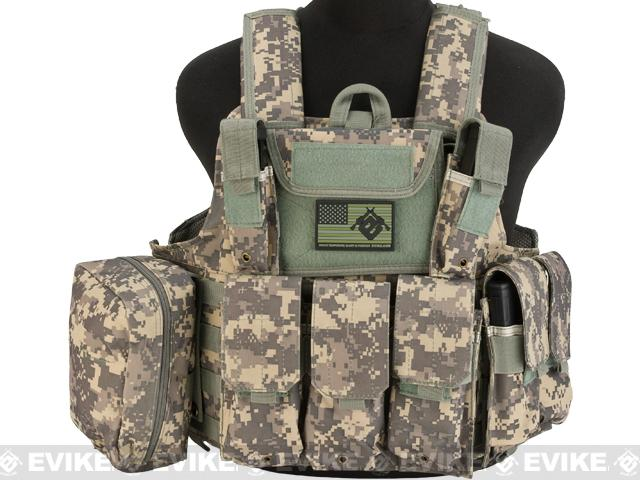 USMC C.I.R.A.S. Type Force Recon Tactical Vest (w/ Full Pouch System) - ACU