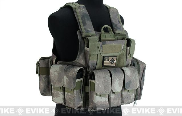 USMC Style C.I.R.A.S. Type Force Recon Tactical Vest (w/ Full Pouch System) - Arid Foliage