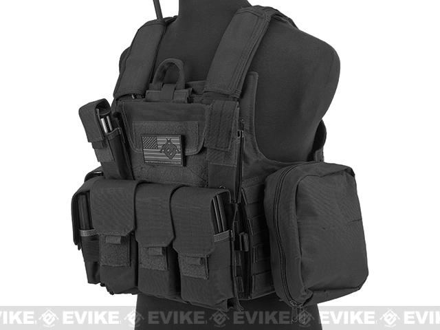 USMC C.I.R.A.S. Type Force Recon Tactical Vest (w/ Full Pouch System) - Black