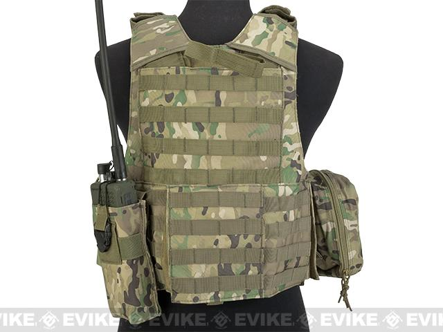 USMC Style C.I.R.A.S. Type Force Recon Tactical Vest (w/ Full Pouch System) - Camo