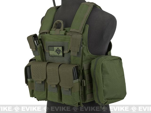 USMC C.I.R.A.S. Type Force Recon Tactical Vest (w/ Full Pouch System) - OD Green
