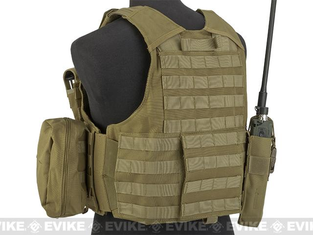 USMC Style C.I.R.A.S. Type Force Recon Tactical Vest (Color: Tan)
