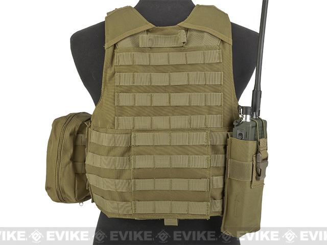 USMC Style C.I.R.A.S. Type Force Recon Tactical Vest (w/ Full Pouch System) - Dark Earth