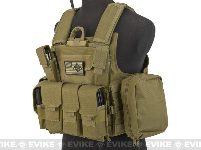 USMC C.I.R.A.S. Type Force Recon Tactical Vest (w/ Full Pouch System) - Dark Earth