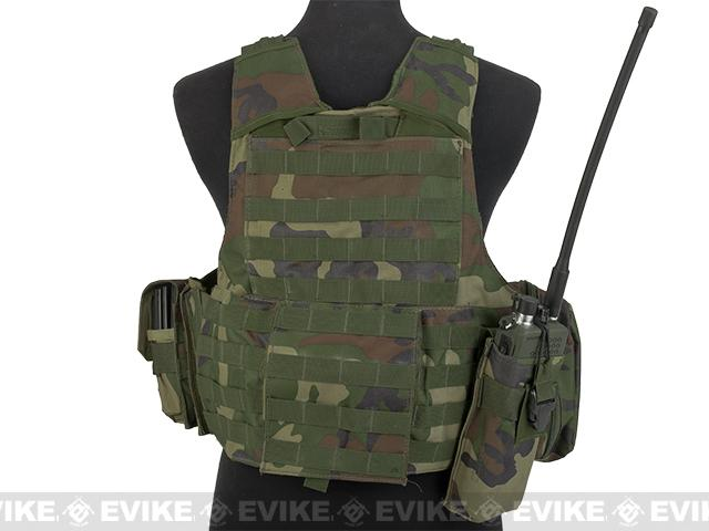 USMC Style C.I.R.A.S. Type Force Recon Tactical Vest (w/ Full Pouch System) - Woodland