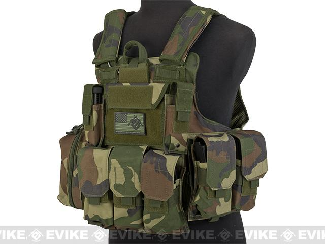 Pre-Order ETA May 2016 USMC Style C.I.R.A.S. Type Force Recon Tactical Vest (w/ Full Pouch System) - Woodland
