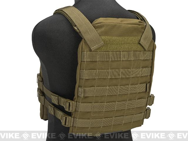 Mission Spec Essentials Only Carrier (EOC) Tactical High Speed Plate Carrier - Coyote Brown