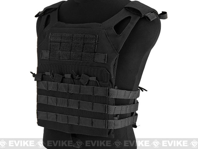 Avengers Compact Airsoft High Speed JPC Plate Carrier (Color: Black / Kids Size)