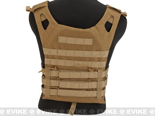 Matrix Compact Airsoft High Speed JPC Plate Carrier (Color: Tan / Kids Size)