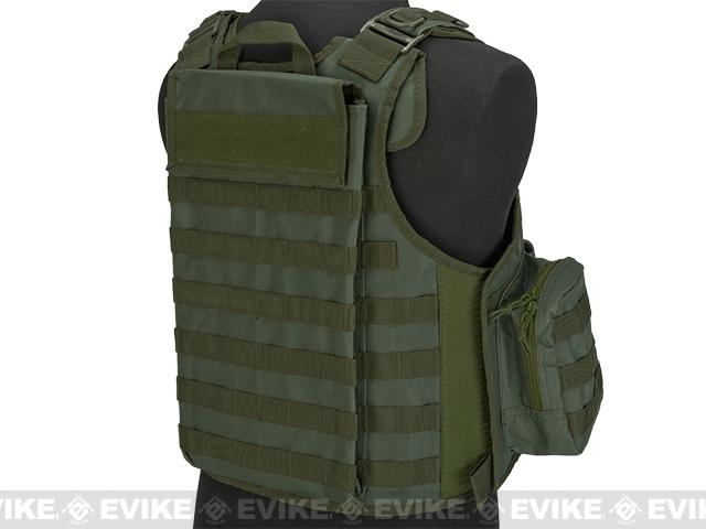 Matrix CIRAS Style Assault Vest with Pouches - OD Green