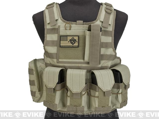 Matrix CIRAS Style Assault Platewith Pouches - Tan