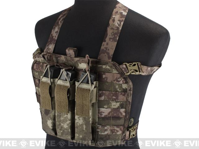 High Speed Operator Chest Rig w/ SMG Mag Pouch - Arid Camo