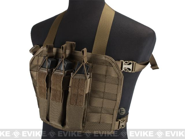 High Speed Operator Chest Rig w/ SMG Mag Pouch - Coyote Brown