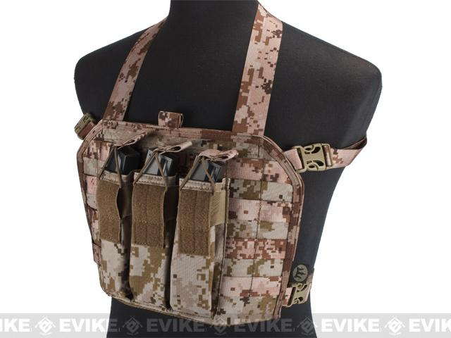 z High Speed Operator Chest Rig w/ SMG Mag Pouch - Digital Desert