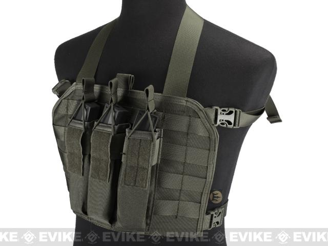 High Speed Operator Chest Rig w/ SMG Mag Pouch - Foliage Green