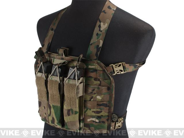 High Speed Operator Chest Rig w/ SMG Mag Pouch - Land Camo