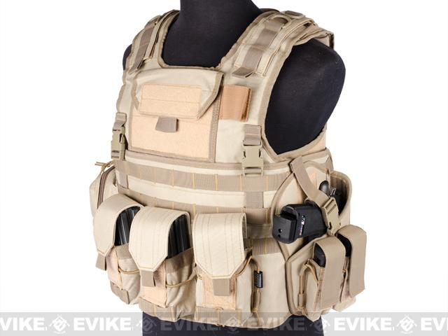 Matrix Variable Front Plate Vest w/ Integrated Pistol Holster - (Black)