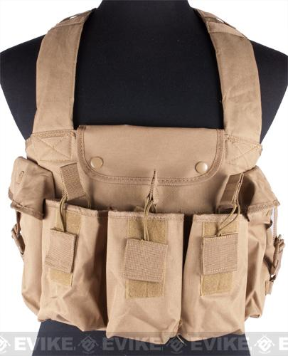 NcStar Tactical 6 Pouch AK Chest Rig - Tan