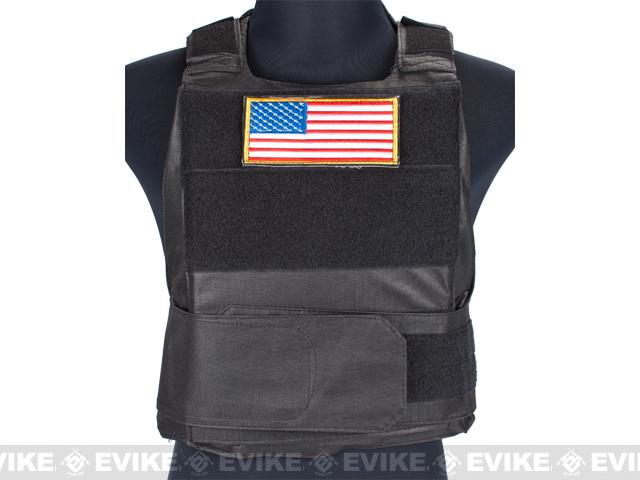 Matrix Delta Force Style Body Armor Shell Vest w/ US Flag Patch