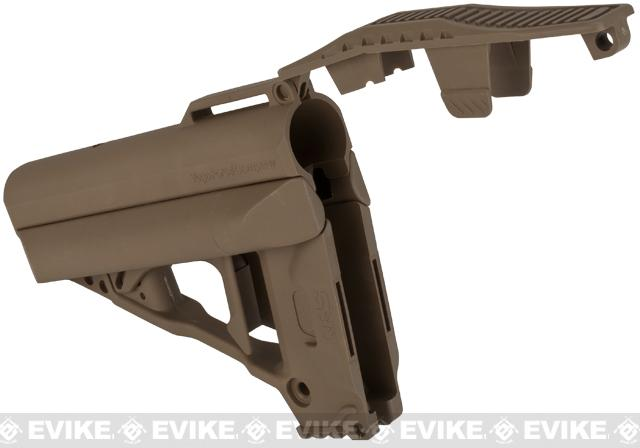 VFC Quick Response System (QRS) Stock for M4 / M16 / AR15 Style Airsoft Rifles - Tan