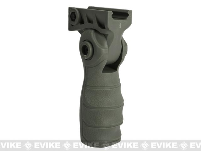 Folding Tactical Airsoft RIS Vertical Grip - OD Green