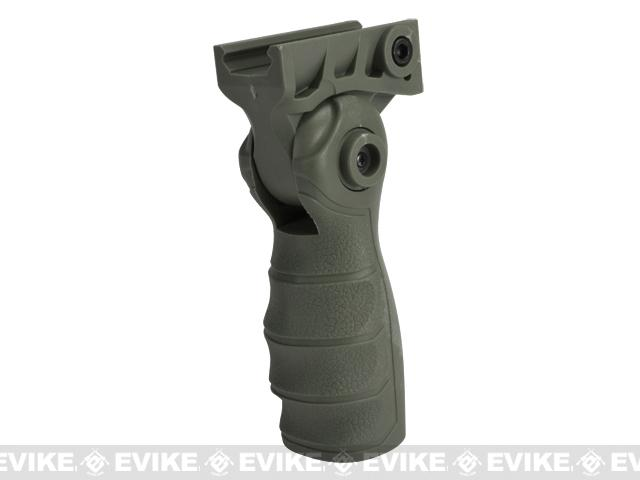 Folding Tactical Airsoft RIS Vertical Grip (Color: OD Green)