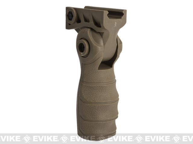 Folding Tactical Airsoft RIS Vertical Grip - Tan