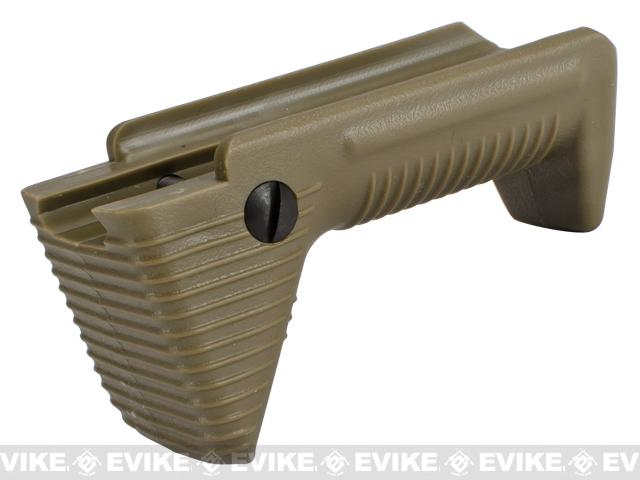 APS Dynamic Hand Stop Polymer Angled Airsoft Foregrip - Dark Earth
