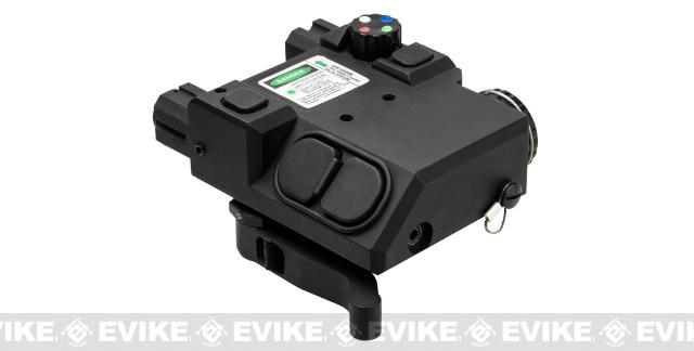 Vism L2 PEQ Light Laser Combo with Green laser and Map Lights - Black