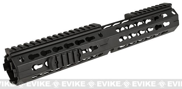 NcSTAR VISM 13 Extended Carbine Length Keymod Rail / Handguard for M4 / M16 / AR15 Rifles - Black