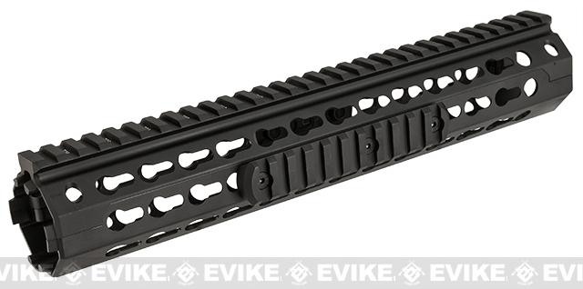 z NcSTAR VISM 12 Rifle Length Keymod Rail / Handguard for M4 / M16 / AR15 Rifles - Black