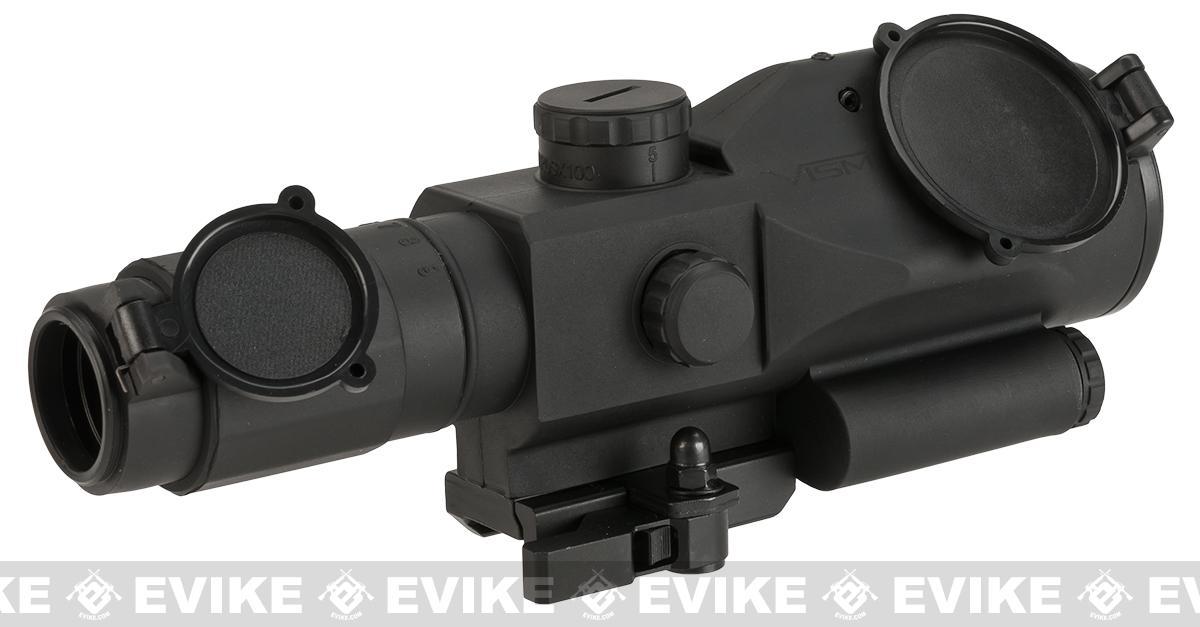 NcStar / VISM SRT 3-9x40 Gen3 Illuminated Compact Rifle Scope w/ Green Laser - Mil-Dot (Red/Blue Illumination)