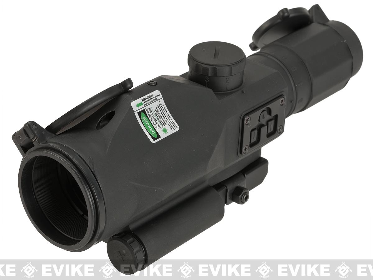 NcStar / VISM SRT 3-9x40 Gen3 Illuminated Compact Rifle Scope w/ Green Laser - Mil-Dot (Red/Blue Illumination)