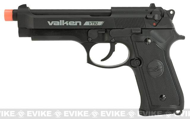 V Tactical VT92 Metal Gas Blowback Airsoft Pistol w/ Hard Pistol Case by Valken - Black
