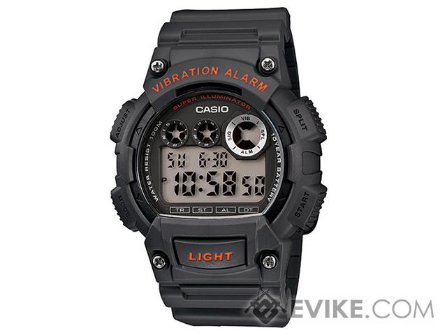 Casio Sports Series W735H-1AVCF Digital Watch - Grey / Orange