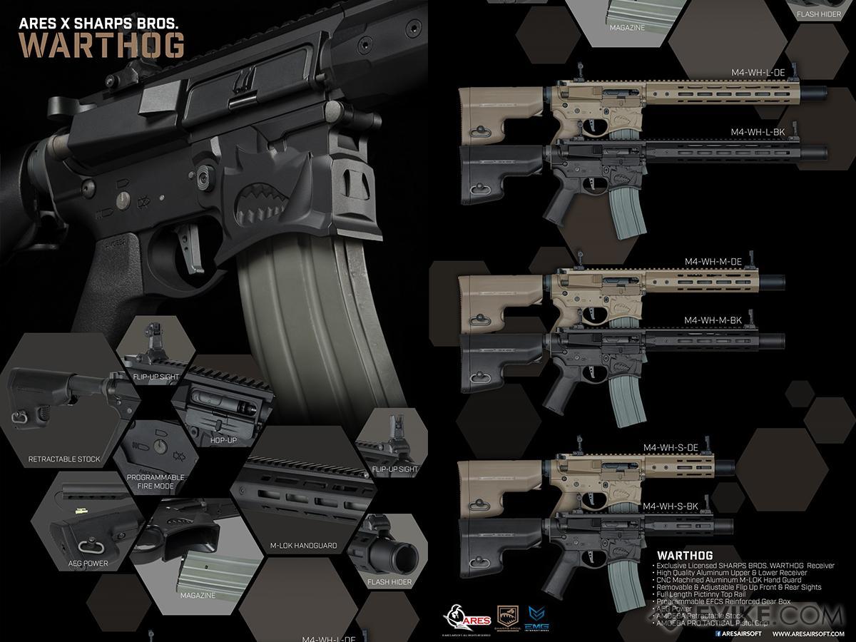 Pre-Order ETA May 2017 EMG Warthog Licensed Full Metal Advanced  Airsoft AEG Rifle (Color: Black / 7 SBR)