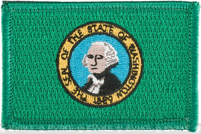 Evike.com Tactical Embroidered Washington Flag The Evergreen State Patch