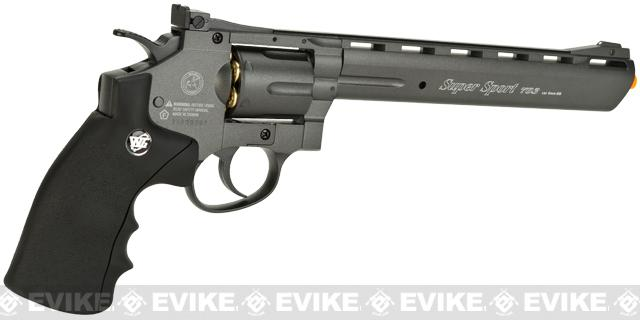 WinGun 8 Magnum Full Size CO2 Full Metal High Power Airsoft Gas Revolver - Black