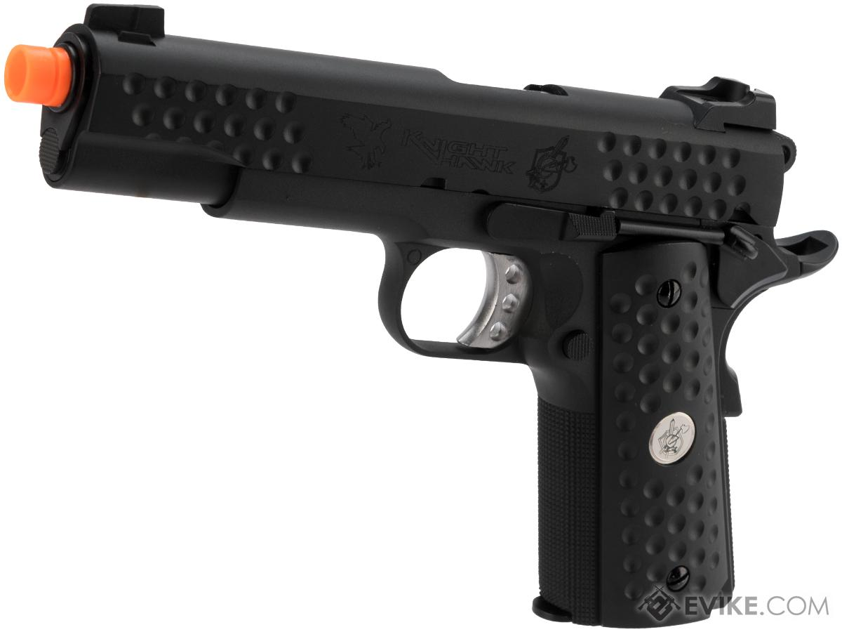 WE-Tech Full Metal Custom 1911 Knighthawk Airsoft Gas Blowback Pistol (Color: Black)