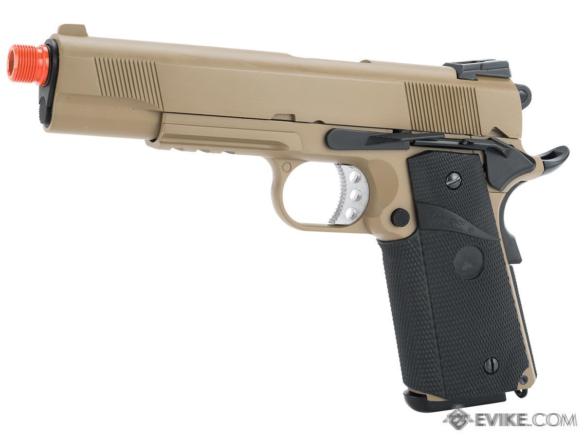 WE / CQB Master Metal 1911 MEU Heavy Weight Airsoft GBB Pistol (Color: Desert w/ Rail)