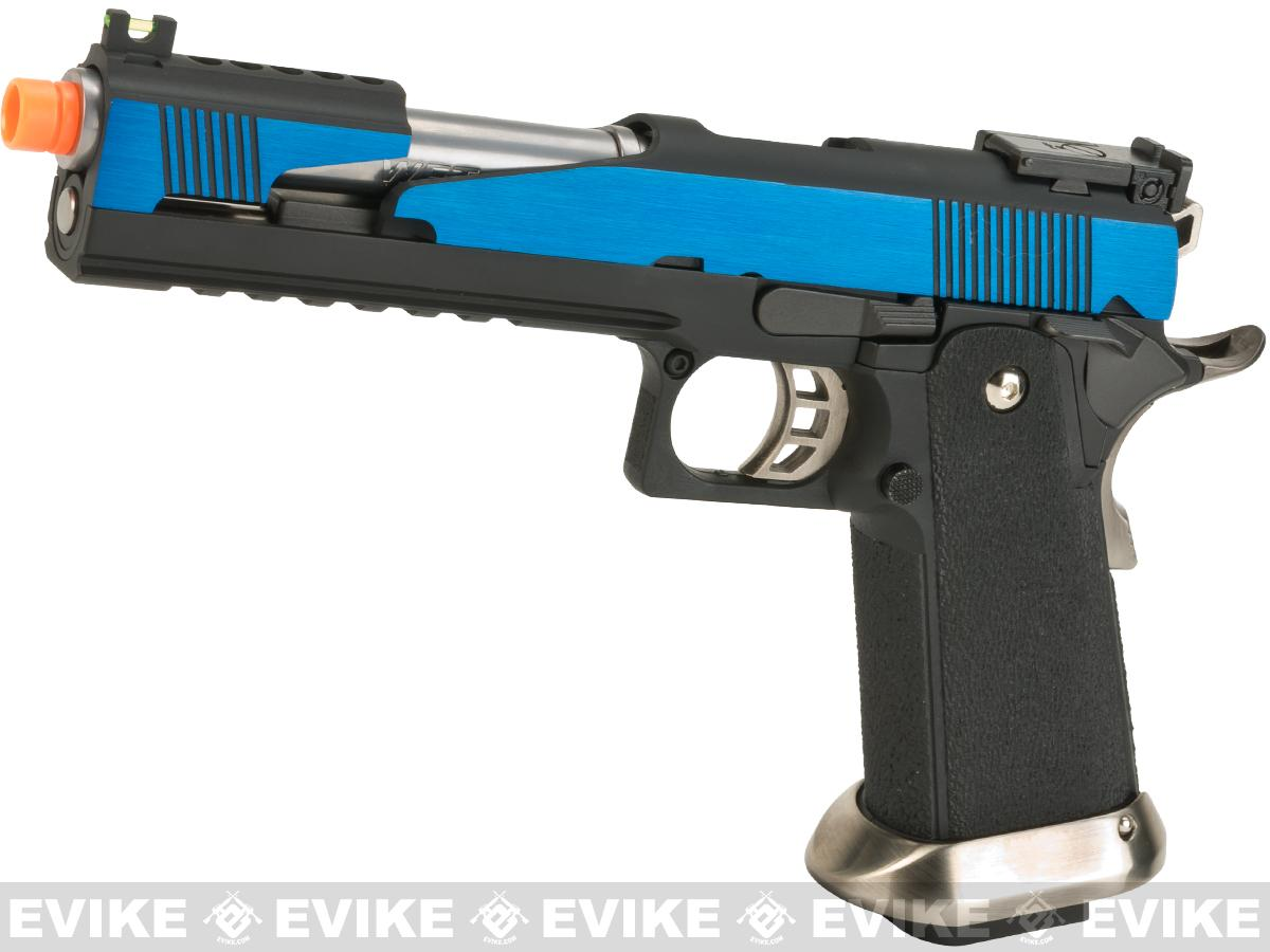 Pre-Order ETA July 2017 WE-Tech  7 Xcelerator Dragon Full Metal Hi-CAPA Airsoft Gas Blowback w/ Ext. Barrel - Blue Slide