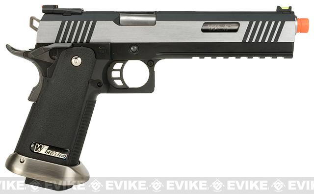 WE-Tech Hi-Capa 6 Competition Pistol - Two-Tone / Silver Barrel